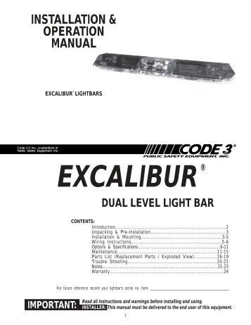 excalibur installation guide code 3 public safety equipment?quality\=85 excalibur code 3 lightbar wiring diagram gandul 45 77 79 119 code 3 led x2100 light bar wiring diagram at crackthecode.co
