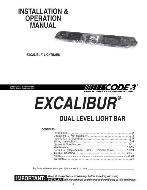 Excalibur Installation Guide - Code 3 Public Safety EquipmentYumpu