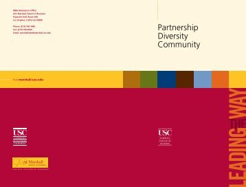 Partnership Diversity Community - USC Marshall
