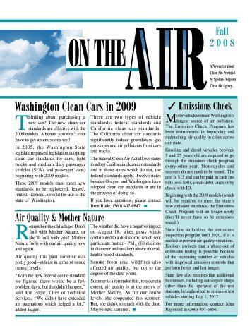 Washington Clean Cars in 2009 - Spokane Regional Clean Air ...