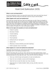 Vocal Cord Dysfunction - Children's Mercy Hospitals and Clinics
