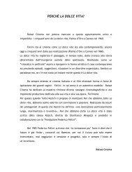 PERCHÉ LA DOLCE VITA? - Festival del film Locarno