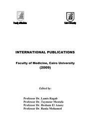 international publications - Kasr Al Ainy School of Medicine