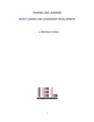 Table of Contents - Institute for Educational Leadership