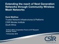 mesh networks - EuroAfrica-ICT