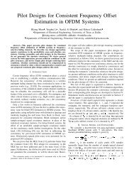 Pilot Designs for Consistent Frequency Offset Estimation in OFDM ...