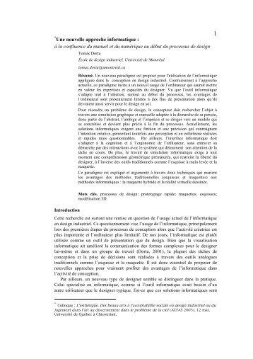 Une nouvelle approche informatique - Hybridlab - Université de ...