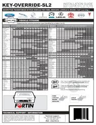 KEY-OVERRIDE-SL2 - Fortin Electronic Systems