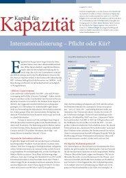 I/2013 Internationalisierung – Pflicht oder Kür? mehr - Halder