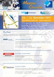 Messe- Guide 10. – 12.11.2011 - GLM