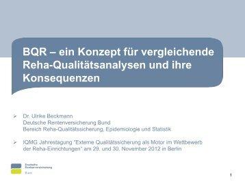 BQR - ein Konzept für vergleichende RehaQualitätsanalysen und ...