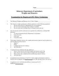 LPG Meter Test - Delaware Department of Agriculture