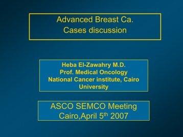 Advanced Breast Cases discussion - NCI