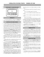 OPERATING INSTRUCTIONS MODEL DT-31Ri