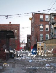 Immigration, Poverty and - Federation for American Immigration ...