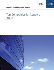 Top Companies for Leaders 2007 - Inspire! Imagine! Innovate!