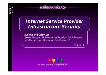 Internet Service Provider Infrastructure Security - frnog