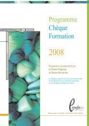 Programme Chèque Formation - Informetiers