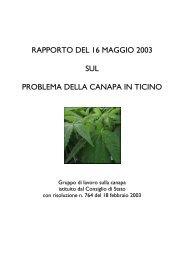 Rapporto sul problema della canapa in Ticino - Repubblica e ...