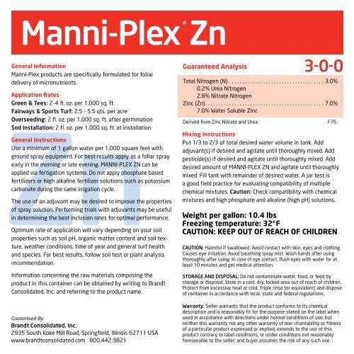 Manni-Plex Zn - Brandt