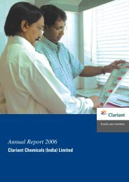 Annual Report 2006 - Clariant