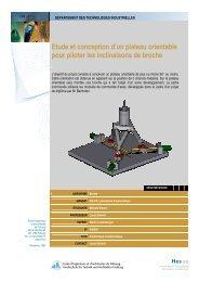 Etude et conception d'un plateau orientable pour piloter les ... - EIA-FR