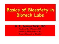 Basics of Biosafety in Biotech Labs