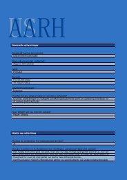 Generelle oplysninger Studie på Aarhus Universitet ...