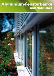 Aluminium-Fensterbänke und Nützliches - Späth Knoll