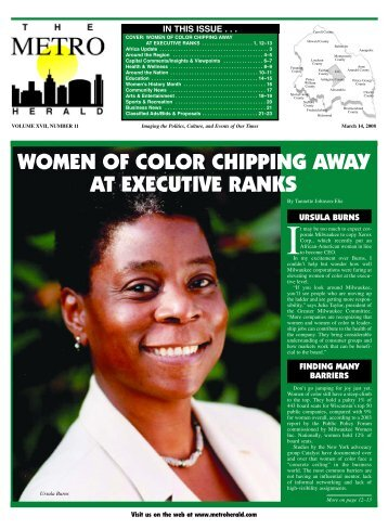 women of color chipping away at executive ranks - The Metro Herald
