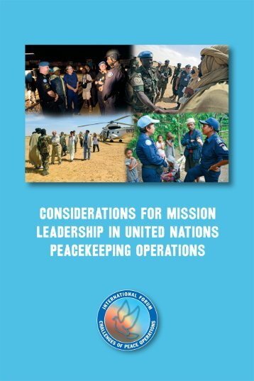 Considerations for Mission Leadership in United Nations ...