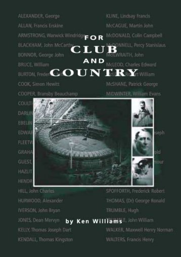For Club and Country - Melbourne Cricket Club