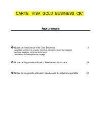 Assistance et Assurances - CIC