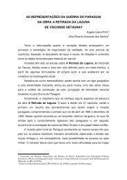 as representações da guerra do paraguai na obra ... - Artigo Científico