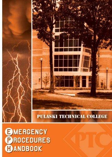 Emergency Procedures Handbook (PDF) - Pulaski Technical College