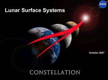 Lunar Surface Systems - Nasa