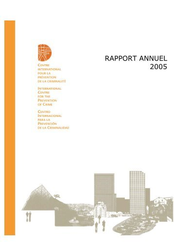 Rapport d'activités 2005 - International Centre for the Prevention of ...