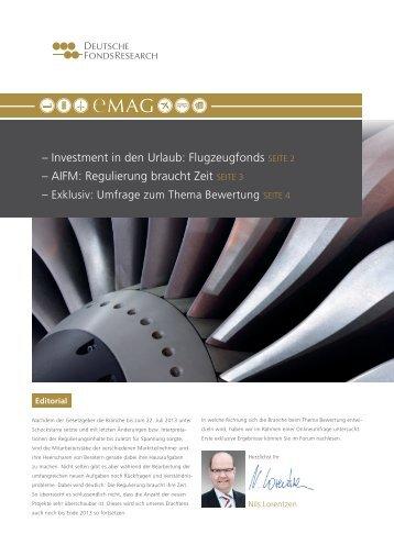 AIFM: Regulierung braucht Zeit SeIte 3 - Deutsche FondsResearch