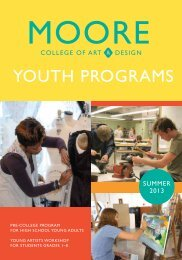 Summer 2013 - Moore College of Art and Design