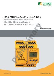 ISOMETER® isoPV425 with AGH420 - Bender Benelux BV