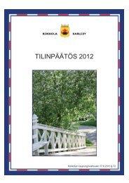 TILINPÄÄTÖS 2012 - Kokkola