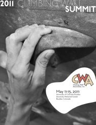 1 2011 Climbing Wall - Climbing Wall Association