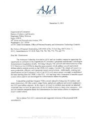 AIA Category VIII Response to Commerce Department - Aerospace ...
