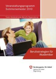 Berufsstrategien für Akademiker - Universität Regensburg