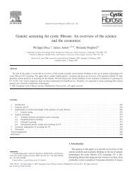 Genetic screening for cystic fibrosis: An overview of ... - ResearchGate