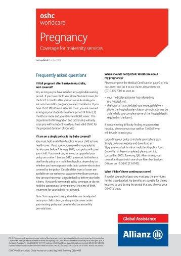 Pregnancy - OSHC