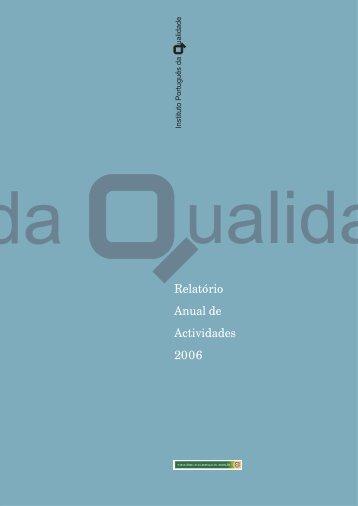 Relatório de Atividades 2006 (pdf) - IPQ