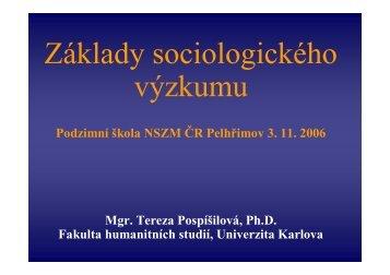 Základy sociologického výzkumu