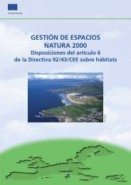 GESTIÓN DE ESPACIOS NATURA 2000 - Disposiciones ... - Europa