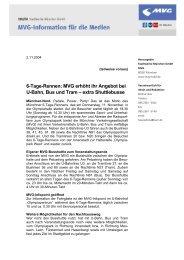 6-Tage-Rennen: MVG erhöht ihr Angebot bei U-Bahn, Bus und Tram ...